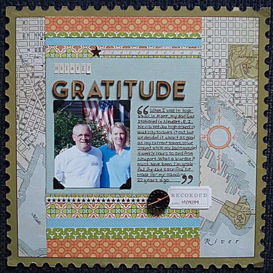 Belated gratitude