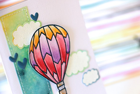 Balloon card detail by natalie elphinstone original