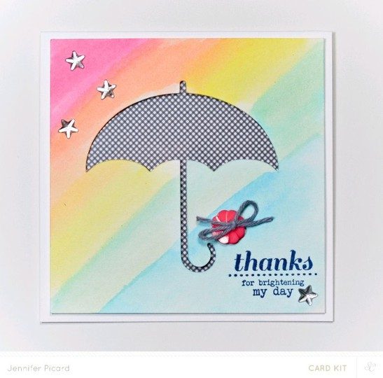Umbrella thanks card