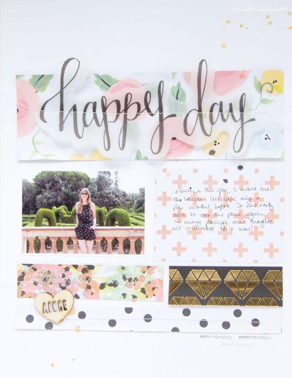 Happyday scrapbooking layout scatteredconfetti fancypants diy papercrafts 1