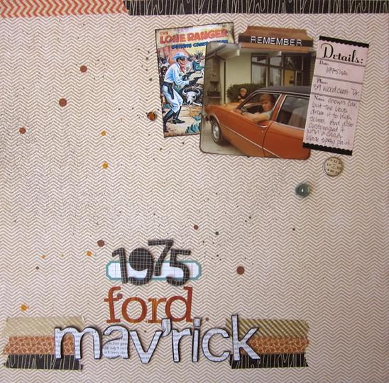 Ford mav'rick red