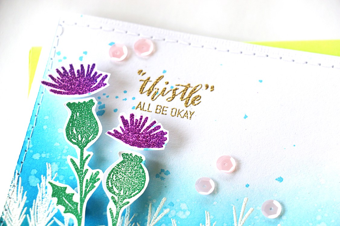 Thistle detail by natalie elphinstone