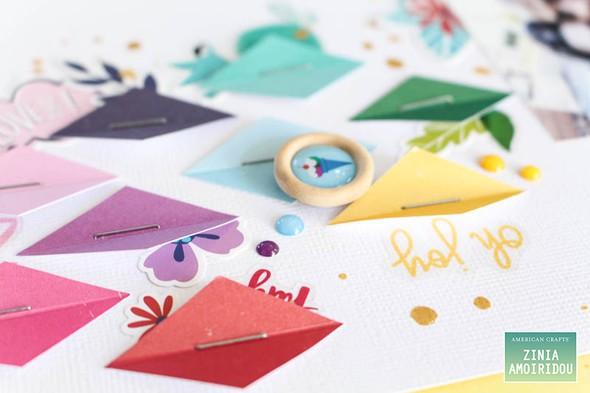 Americancrafts zinia stickerbooklayout glittergirl 04 original