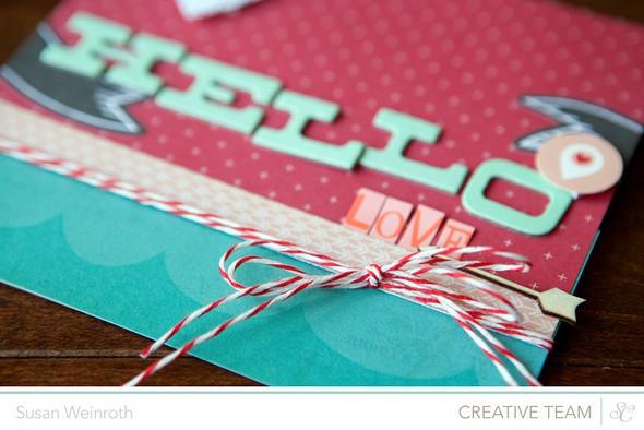 Hello love card detail