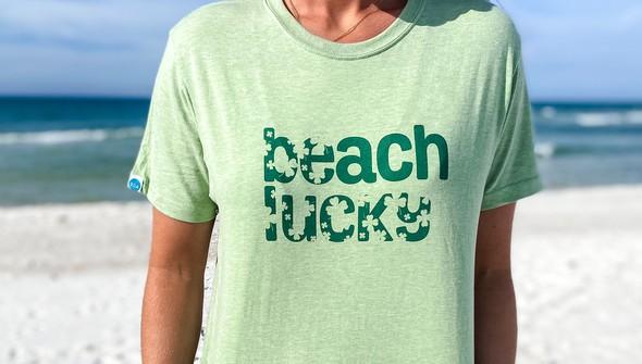 134268 beach lucky short sleeve tee women sea green slider3 original