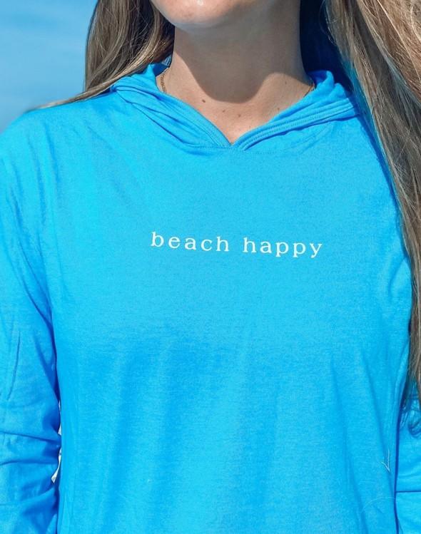 146351 simple beach happy pullover hoodie 30a blue women slider 4 original