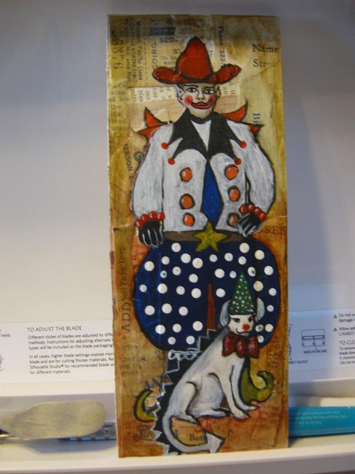 Cowboy clow and his dog original