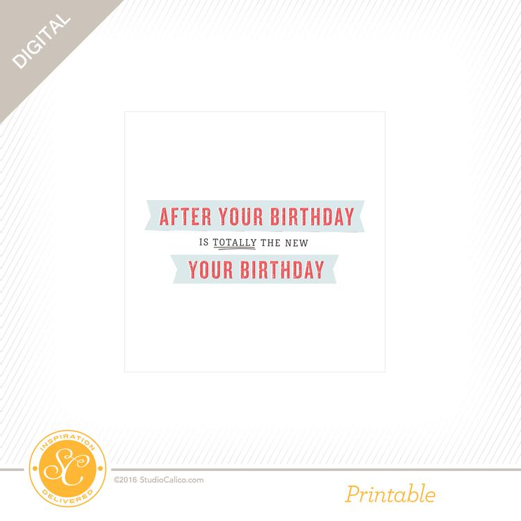 Story Board Printable Belated Birthday Card Studio Calico