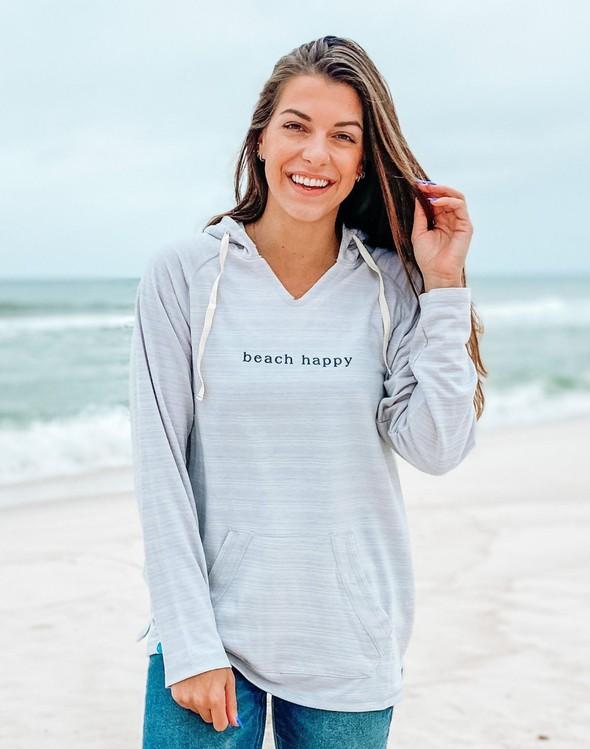 121777 simple beach happy french terry hoodie oatmeal women slider 1 original