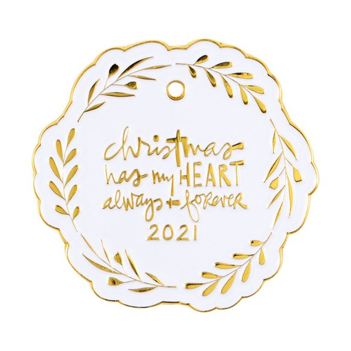 Picture of December Daily® 2021 Wreath Enamel Ornament