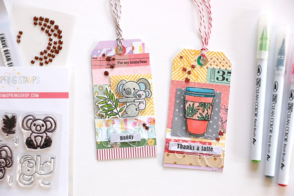 Coffee and koala tags original