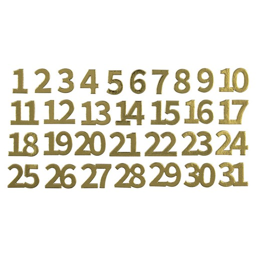 Picture of December Daily® 2019 Gold-foil Chipboard Numbers