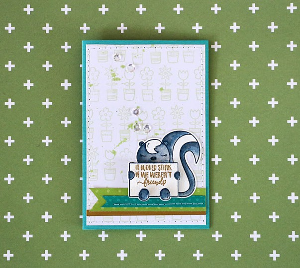 Skunk card by natalie elphinstone original