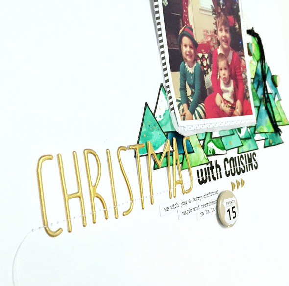 Christmas with cousins layout   cu title original