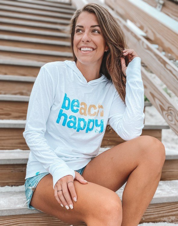 108507 beach happy pullover hoodie white women slider 3 original