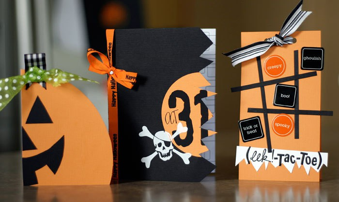 Halloween card trio