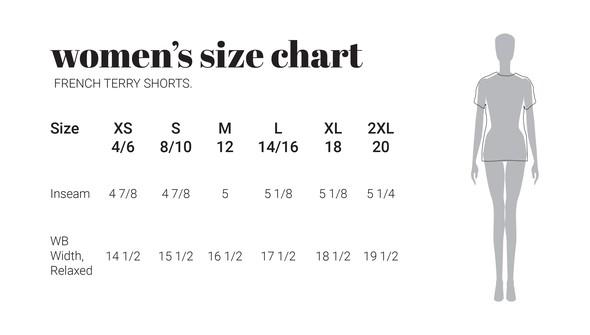 30a sizecharts frenchterryshorts original