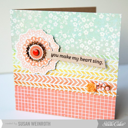 6   you make my heart sing card   susan weinroth
