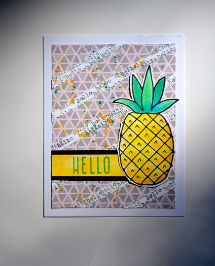 Hello pineapple card original