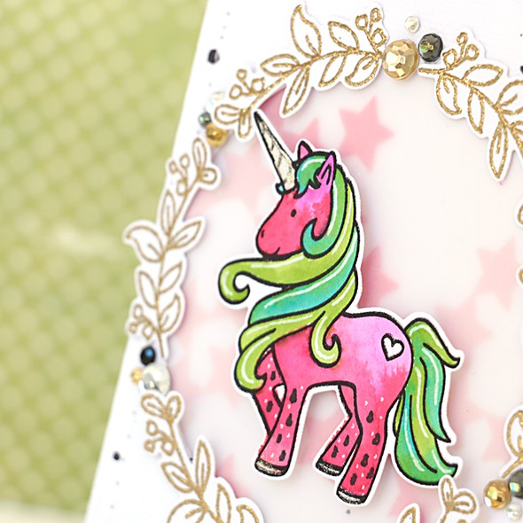 Melonised unicorn card by natalie elphinstone 3 original