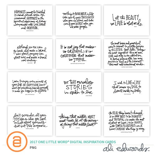f995a40939a900 One Little Word® 2017 Digital Inspirational Cards