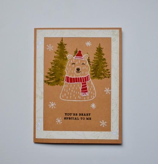 Bear framed card original