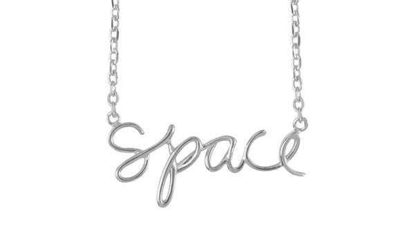 Ae olw shop necklaces space silver slider original