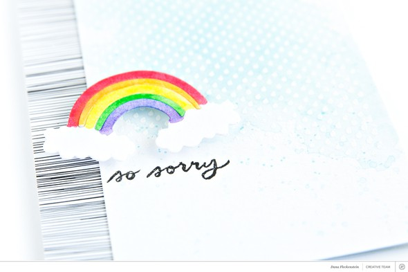 Card so sorry rainbow pixnglue detail original