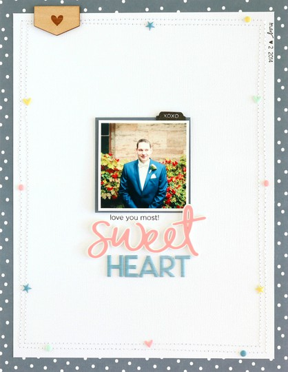 Sweetheart scrapbooking layout 2 original