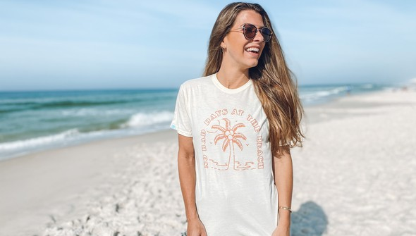 146439 no bad days at the beach short sleeve tee women cream slider1 original