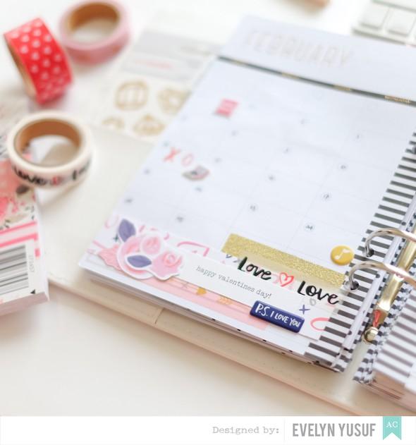 Feb valentine planner spread monthly spread details 1 by evelynpy original