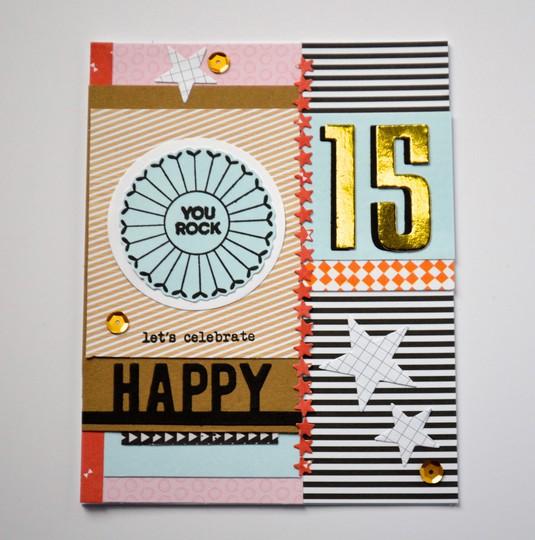 Happy 15th birthday card original
