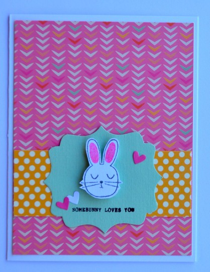 Somebunny loves you card