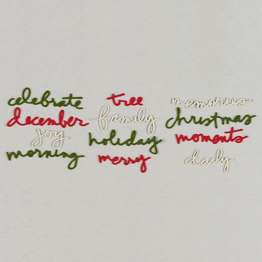 Picture of December Daily® Small Rubber Words