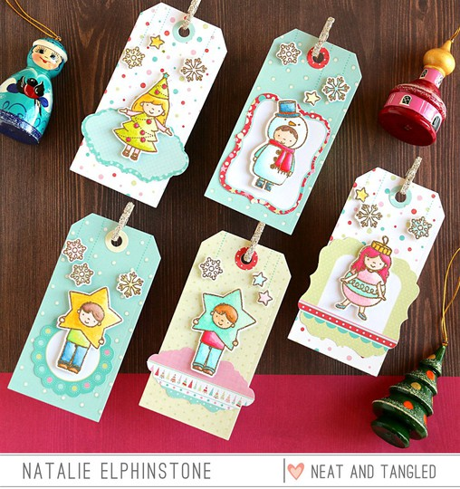 Christmas tags by natalie elphinstone original