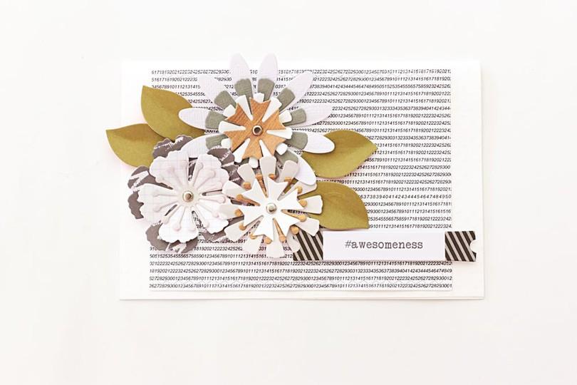 Layered flower card by natalie elphinstone original