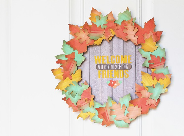 Carson riutta chickaniddy crafts leaf wreath whole