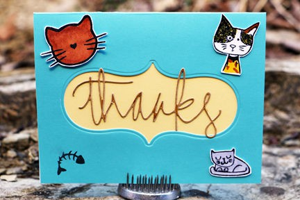 Iriscristata cat thanks card