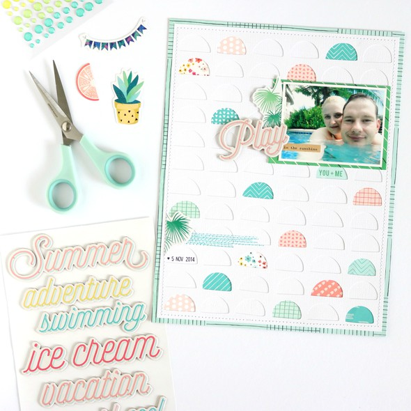 Play in the sunshine scrapbooking layout 1 original