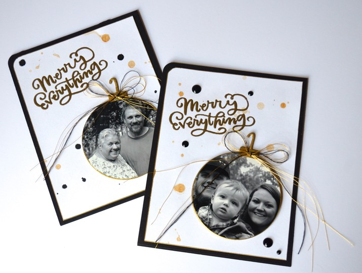 Ornament photo cards original
