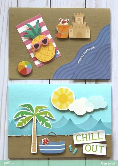 Beach day cards 1 original