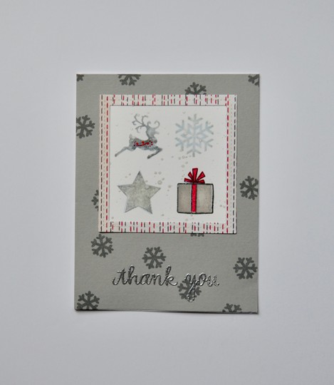 Christmas icons thank you card original