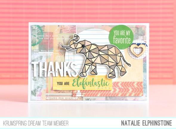 Elephant card by natalie elphinstone original