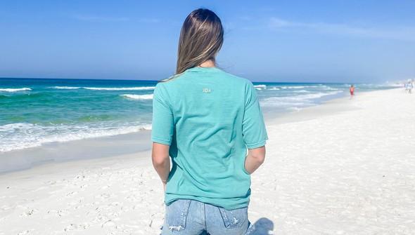 154075  simple beach happy comfort colors short sleeve tee women seafoam slider4 original