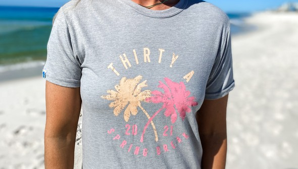 137629 spring break on 30a colorful short sleeve tee women ash slider2 original