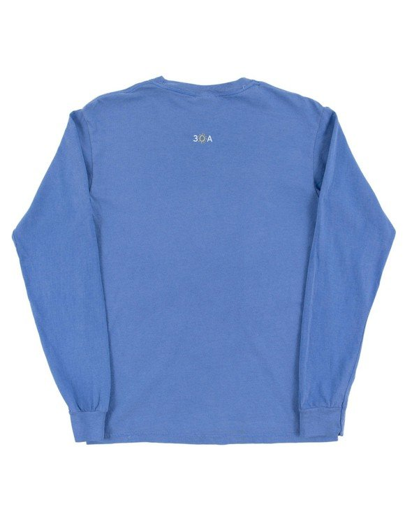 154117 simple beach happy comfort colors long  sleeve tee flo blue women slider 6 original