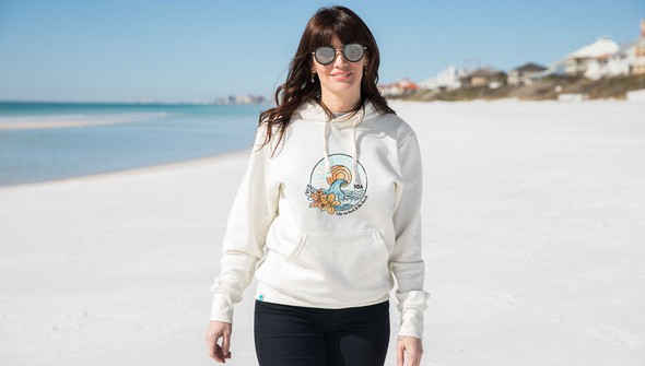 134902 take me back to the beach hooded sweatshirt  women cream slider1 original