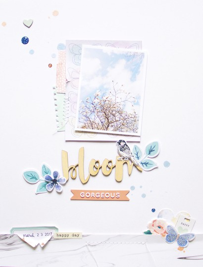 Bloom scatteredconfetti scrapbooking layout cocoavanilla wildatheart cratepaper pinkfreshstudio 1 original