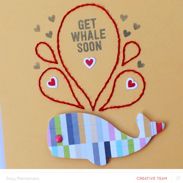 Get whale soon card close up