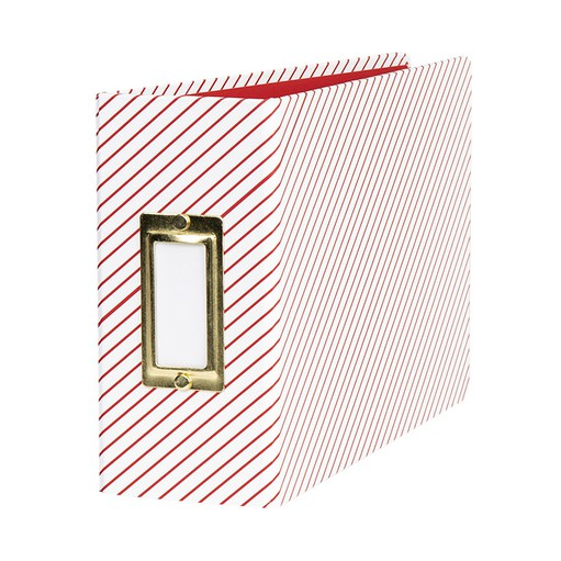 Picture of December Daily® 2019 4x6 Red Stripes Album